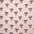 Super Snuggle Flannel Fabric-Cute Koala on Pink