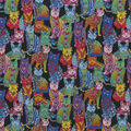 Novelty Cotton Fabric-Psychadelic Cats