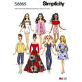 Simplicity Pattern S8865 11 1/2\u0027\u0027 Fashion Doll Clothes