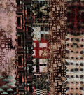 Jelly Roll Cotton Glitter Fabric Pack 2.5\u0027\u0027x42\u0027\u0027-Brown