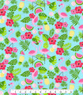 Novelty Cotton Fabric -Summer Icons