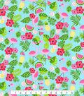 Novelty Cotton Fabric 44\u0027\u0027-Summer Icons