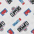 LA Clippers Cotton Fabric -Logo Toss