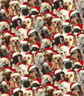 Christmas Cotton Fabric-Santa Pups