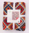 No-Sew Throw Fleece Fabric 72\u0022-Gray Orange Aztec