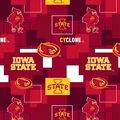 Iowa State University Cyclones Cotton Fabric -Modern Block
