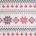 Anti-Pill Plush Fleece Fabric-Aspen Fair Isle on Cream