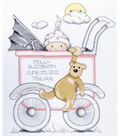 Tobin Baby Buggy Girl Birth Record Counted Cross Stitch Kit