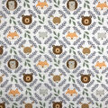 Nursery Cotton Fabric-Eamon Circle with Faces