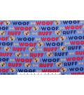 Blizzard Fleece Fabric 59\u0022-Woof Ruff Pup
