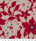 Robert Allen @ Home Print Swatch 55\u0022-Artful Flora Poppy