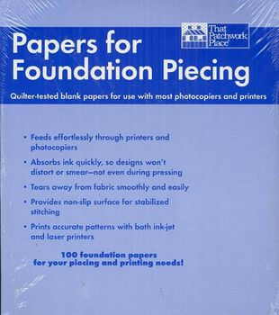 """That Patchwork Place-Blank Foundation Papers-8-1/2""""x11"""" 100/Pkg"""