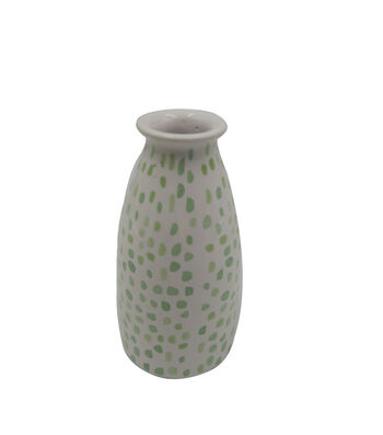 Simply Spring Vase-Green Dots