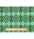 Snuggle Flannel Fabric 42\u0022-Green Navy Aztec