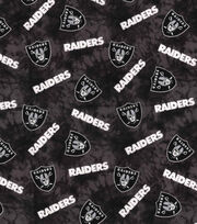 "Oakland Raiders Flannel Fabric 42""-Tie Dye, , hi-res"