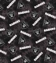 "Oakland Raiders Flannel Fabric 42""-Tie Dye, , hi-res"