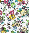 Snuggle Flannel Fabric 42\u0022-Busy Bee Floral