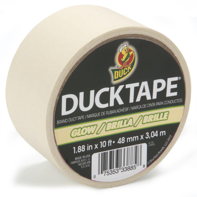 "DUCKTAPE Mini Duck Tape .75 3//4/"" X 6/' Glow In The Dark bag of 6"