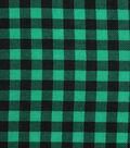 Holiday Showcase Christmas Cotton Fabric 43\u0027\u0027-Black & Green Checked