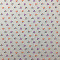 Doodles Juvenile Apparel Fabric-Glitter Hearts on Heather Gray