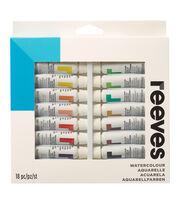 Reeves Watercolor Paint 10ml 18/Pkg-Assorted Colors, , hi-res
