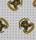 Harry Potter Flannel Fabric 42\u0022-Hogwarts Crest On Dots
