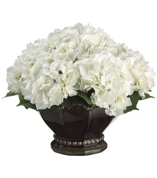 Hydrangea in Ceramic Bowl 12''