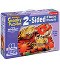 Sneaky Floor Puzzle 2 Sided 46 Pieces 24\u0022X36\u0022-A Day At The Zoo