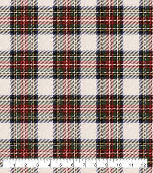 Super Snuggle Flannel Fabric-Tan Tartan Plaid