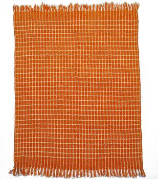 Simply Autumn 50''x60'' Throw-Plaid on Orange