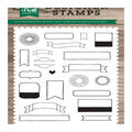 Echo Park Paper Company 22 pk Photopolymer Designer Stamps-Simple Labels