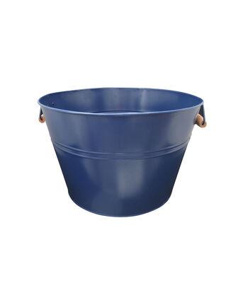 Americana Patriotic Ice Bucket with Wood Handle-Navy