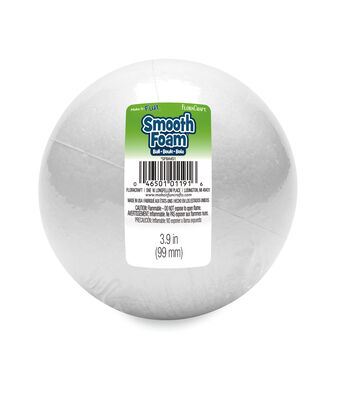 "Smooth Foam 4"" Ball-White"