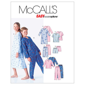 McCall's Pattern M6227 Children's Sleep & Lounge-Size 7-8-10-12