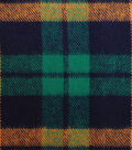 Plaiditudes Brushed Cotton Fabric-Orange, Green & Navy Square Plaid