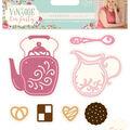 Sara Davies Signature Vintage Tea Party Dies-Tea & Biscuits
