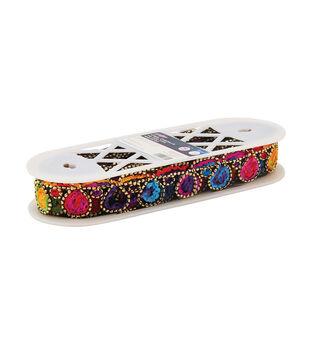 Yaya Han Collection  Tribal  Chenille Tie Dye Trim Teardrop