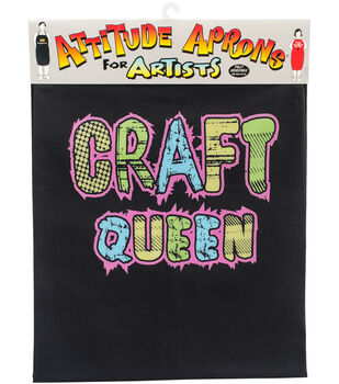 Attitude Artist Apron Black-Craft Queen