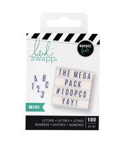 Heidi Swapp Mini Mega Pack Lightbox Inserts-Blue Alphabets & Numbers, , hi-res
