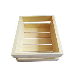 Small Basic Pine Wood Crate