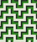 HGTV Home Upholstery Fabric 54\u0022-Jigsaw/Malachite
