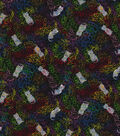 Novelty Cotton Fabric-Cats in Yarn