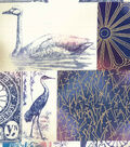Asian Inspired Cotton Fabric 43\u0027\u0027-Metallic Garden Patch