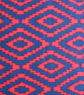 Blizzard Fleece Fabric - Navy Red Southwest