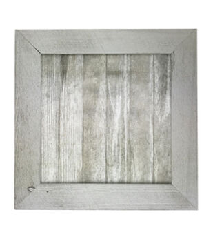 Mix the Media 14''x14'' Wood Frame-Whitewash & Gray