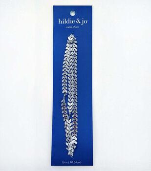 hildie & jo 16'' Metal Leaf Chain