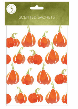 Expressive Scent 3 pk Scented Sachets-Pumpkins