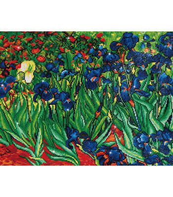 "Diamond Embroidery Facet Art Kit 25.2""X34.5""-Irises (Van Gogh)"