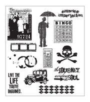 Tim Holtz Large Cling Rubber Stamp Set-Mini Muse, , hi-res