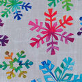 Christmas Cotton Fabric-Bright Color Snowflake White